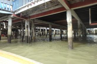 nagu näete, kanalisatsiooni ei ole. kõik sulpsab otse vette, vist. ise ei näind.