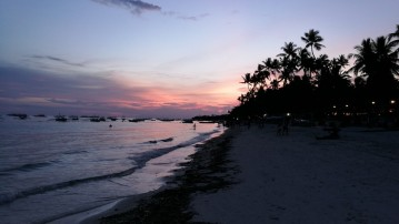 esimese õhtu päikeseloojang Alona beachil
