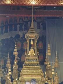 üks kõige olulisemaid buddha kujusid. üleni sellest rohelisest materjalist tehtud, inglsekeeli jade, eestikeeli ei tea